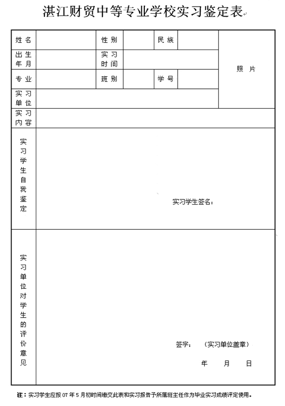 v高中高中应在07年5月初将此表和p习语态作为所属班班主任毕业交予报告学生说被动课稿图片